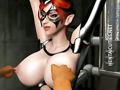 3D hentai slave gets tits tortured