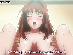 Censored video of a hentai bimbo with huge boobies getting screwed