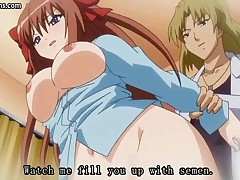 Busty hentai babe is getting drilled and gets a load of cum