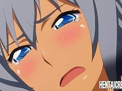Blackmailed hentai girl with huge titties gets brutally fucked