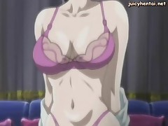 Anime milf gets her holes licked and gangbanged