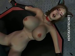 3D hentai slave gets pussy jizzed by a monster