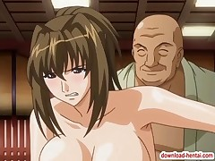 Busty hentai chick gets banged hard