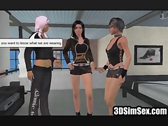 3D girls having first lesbian experience fuck real kinky