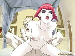 Redhead hentai gets brutally doggystyle fucked