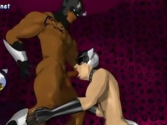 Animated gay doing blowjob and gets drilled