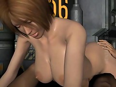 Sinfully redhead 3D hentai bitch riding a monster dick