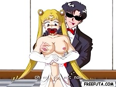 Sailor Moon and Tuxedo Mask discover a dirty surprise together
