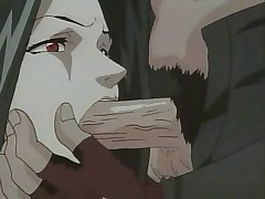 Helpless anime girl forced to swallow cock before getting fucked