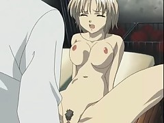 Hentai sex slave girl gets her shaved pussy hammered