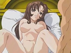 Innocent looking hentai girlie getting gangbanged