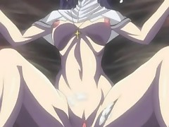 Anime nun gangbanged and cumshoted by horny group