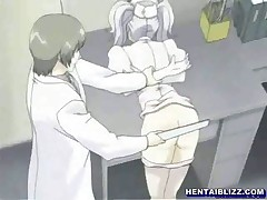 Hentai nurse tied up in a gynaecological chair and punishment
