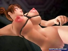 Busty 3D hentai bigcock fucked by green monster