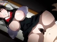 Behaved hentai firecracker with a honeyed side-ways smile gets screwed by her senpai