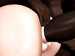 3D Interracial Toon