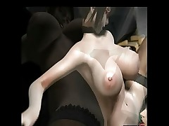busty 3d anime teacher getting fucked